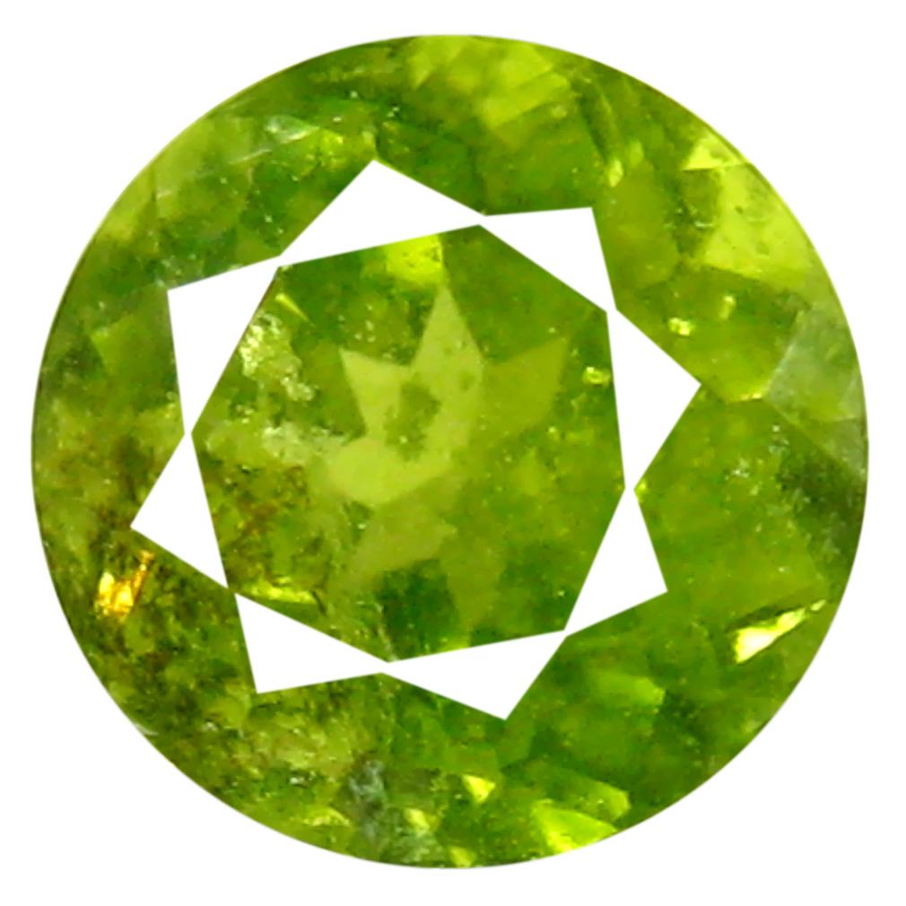 0.64 ct Eye-catching Round (5 x 5 mm) Un-Heated Nigeria Grossular Garnet Loose Gemstone