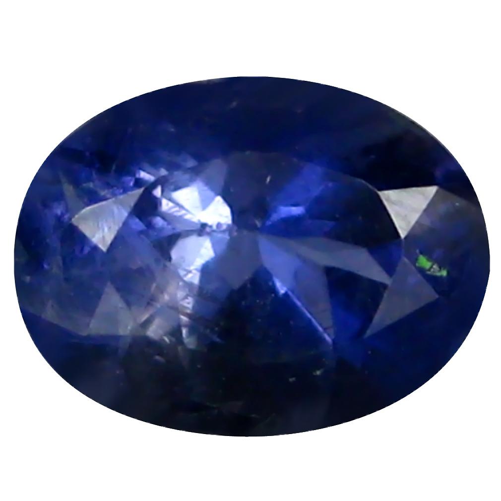 0.92 ct AAA Supreme Oval Shape (7 x 6 mm) Blue Iolite Natural Gemstone