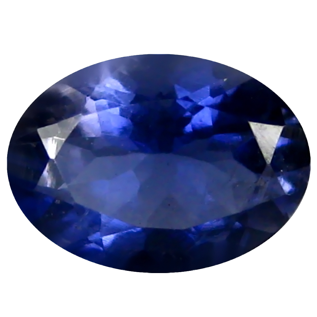 0.74 ct AAA Sparkling Oval Shape (7 x 6 mm) Blue Iolite Natural Gemstone