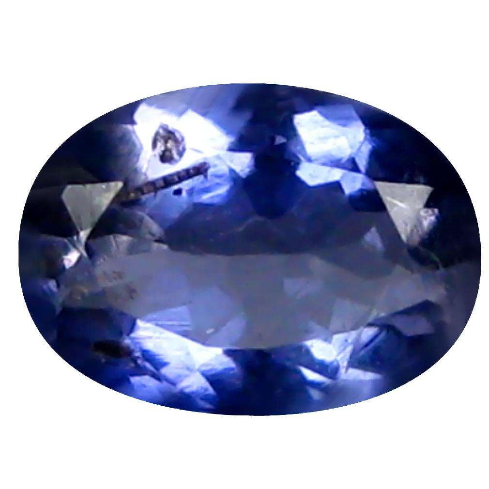 0.40 ct AAA Pleasant Oval Shape (6 x 4 mm) Blue Iolite Natural Gemstone