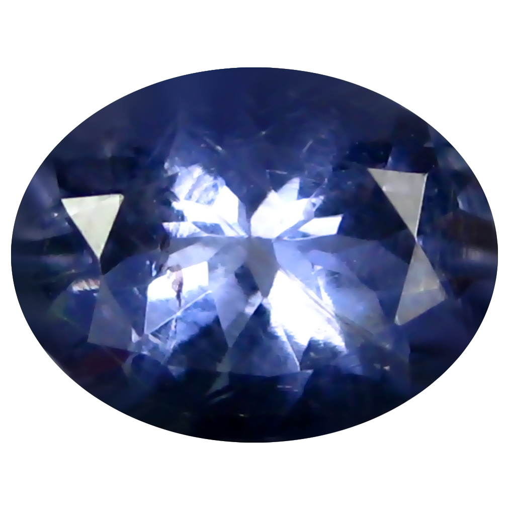 1.52 ct AAA Incredible Oval Shape (9 x 7 mm) Blue Iolite Natural Gemstone