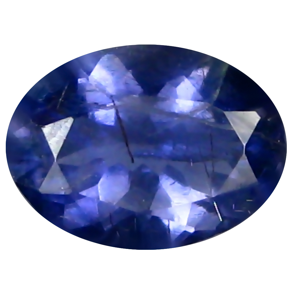 0.81 ct AAA Gorgeous Oval Shape (8 x 6 mm) Blue Iolite Natural Gemstone