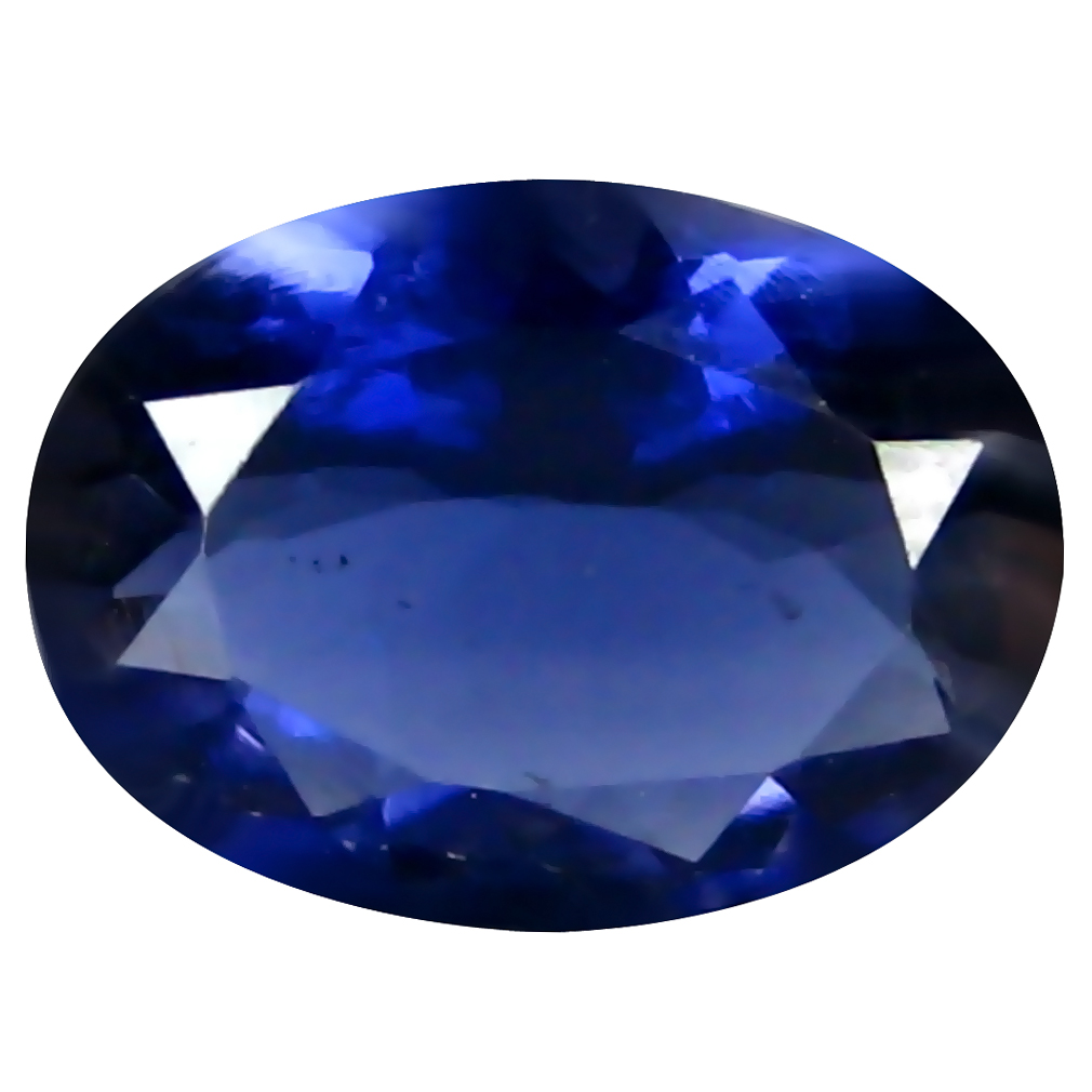 1.00 ct AAA Phenomenal Oval Shape (9 x 7 mm) Blue Iolite Natural Gemstone