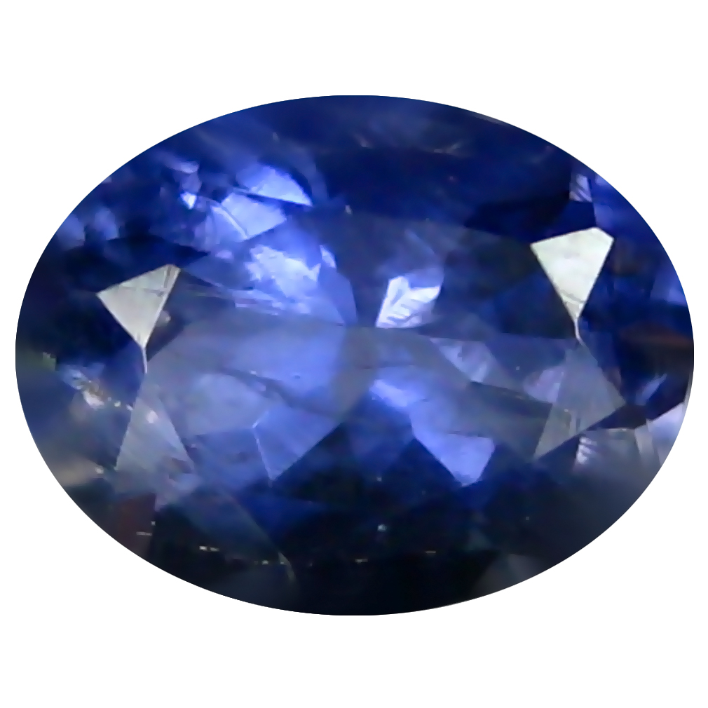 1.10 ct AAA Pretty Oval Shape (8 x 6 mm) Blue Iolite Natural Gemstone