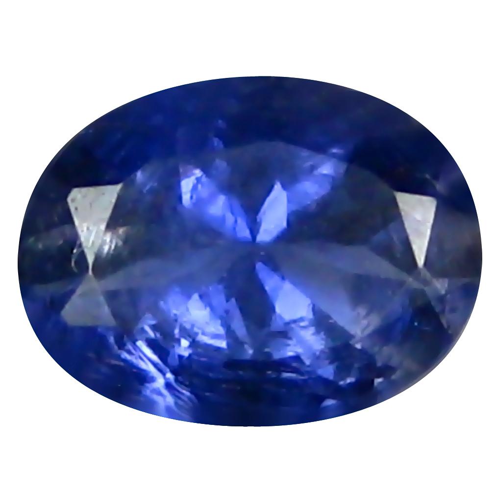 0.67 ct AAA Premium Oval Shape (7 x 5 mm) Blue Iolite Natural Gemstone