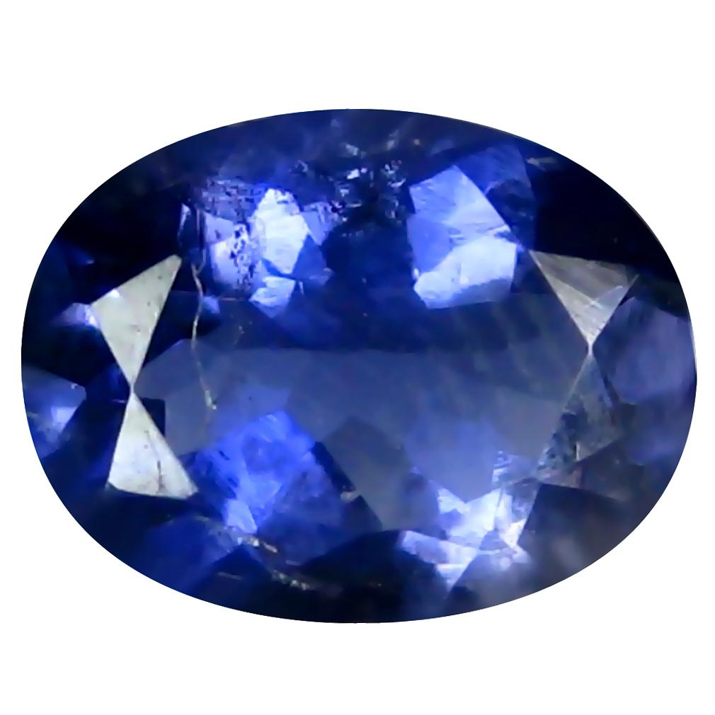 1.06 ct AAA Impressive Oval Shape (8 x 6 mm) Blue Iolite Natural Gemstone