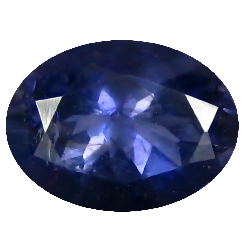 1.37 ct AAA Astonishing Oval Shape (9 x 7 mm) Blue Iolite Natural Gemstone