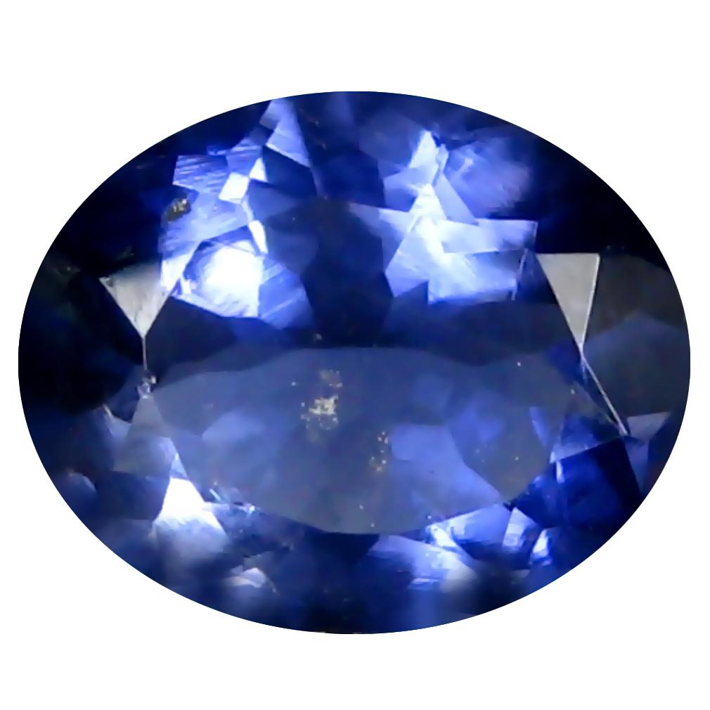 1.11 ct AAA Pretty Oval Shape (8 x 7 mm) Blue Iolite Natural Gemstone