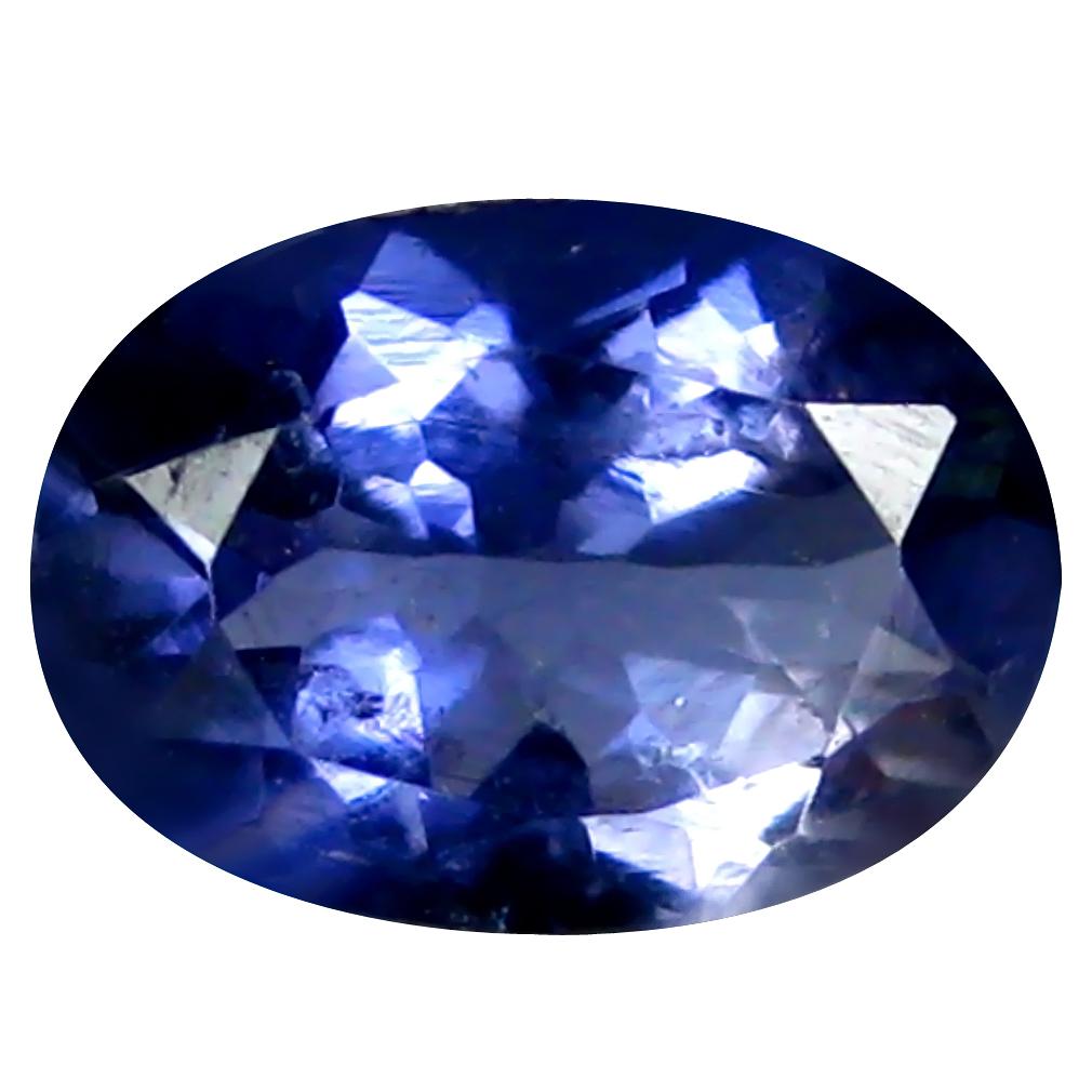 1.04 ct AAA Beautiful Oval Shape (8 x 6 mm) Blue Iolite Natural Gemstone
