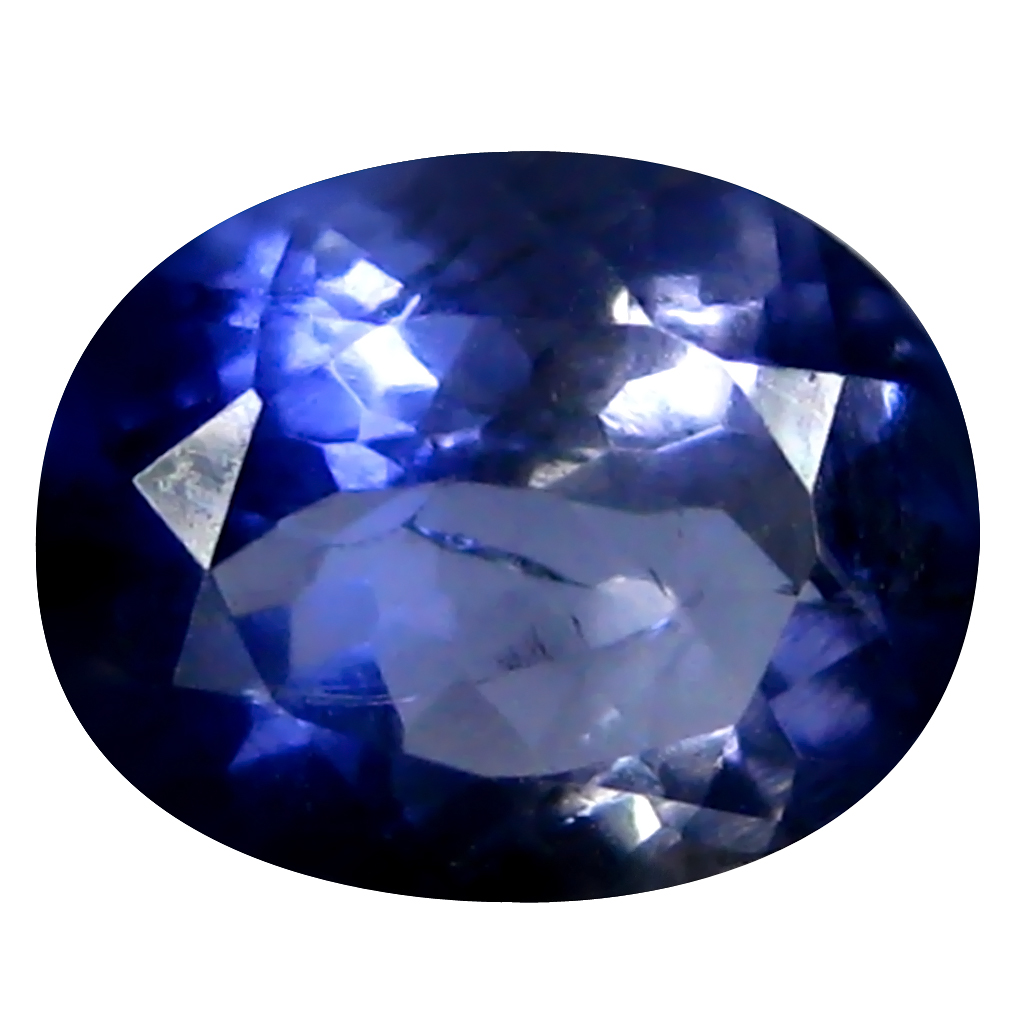 1.27 ct AAA Romantic Oval Shape (8 x 7 mm) Blue Iolite Natural Gemstone
