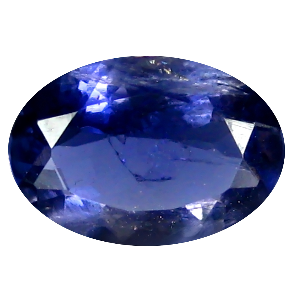 0.96 ct AAA Mesmerizing Oval Shape (9 x 6 mm) Blue Iolite Natural Gemstone