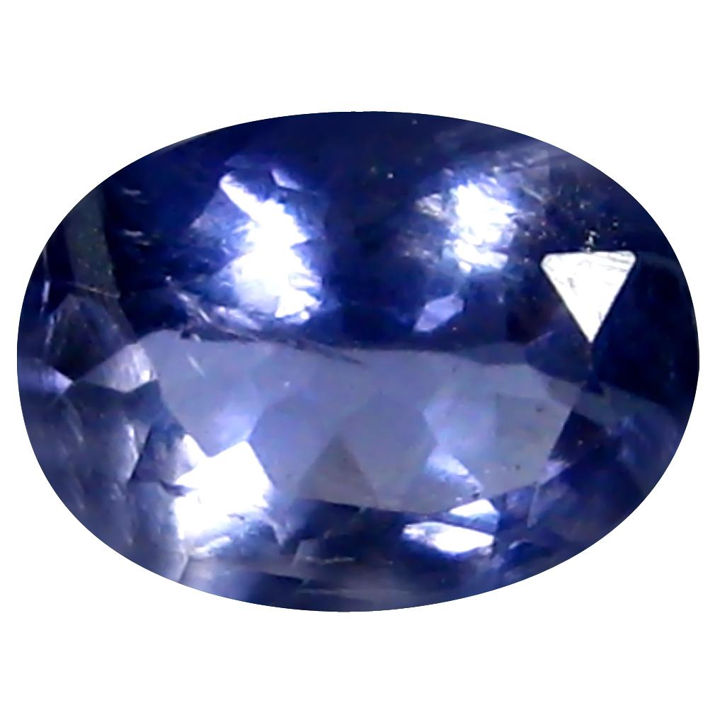 0.72 ct AAA Premium Oval Shape (7 x 6 mm) Blue Iolite Natural Gemstone