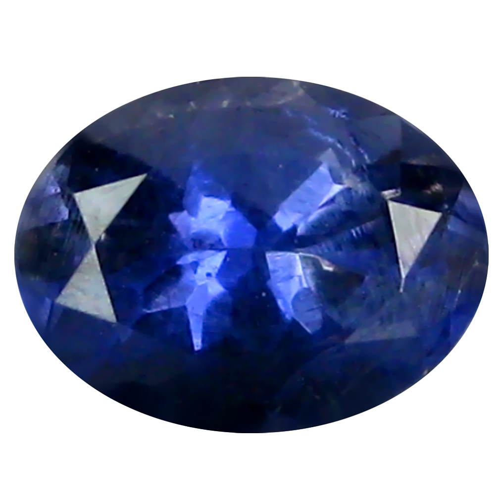 0.68 ct AAA Remarkable Oval Shape (7 x 5 mm) Blue Iolite Natural Gemstone