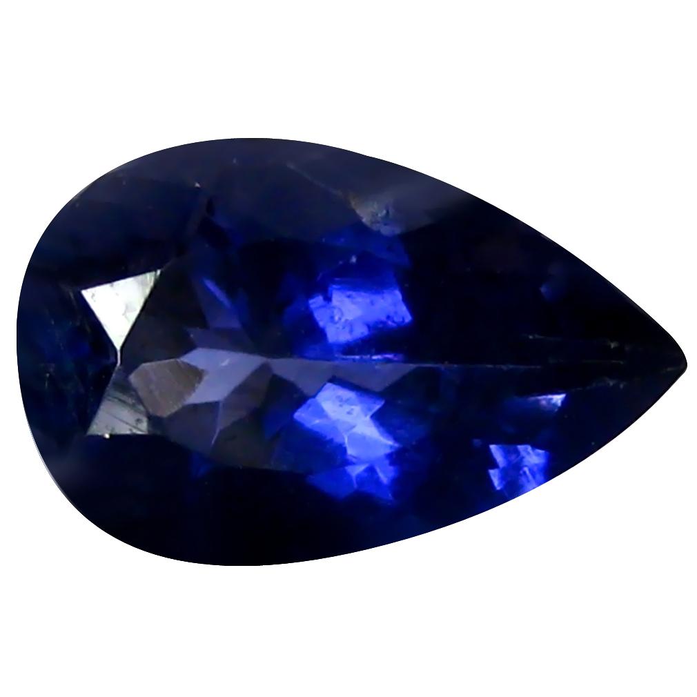 1.24 ct AAA Astonishing Pear Shape (9 x 6 mm) Blue Iolite Natural Gemstone