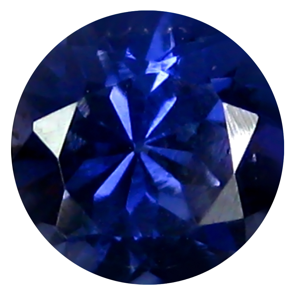 0.69 ct AAA Shimmering Round Shape (6 x 6 mm) Blue Iolite Natural Gemstone