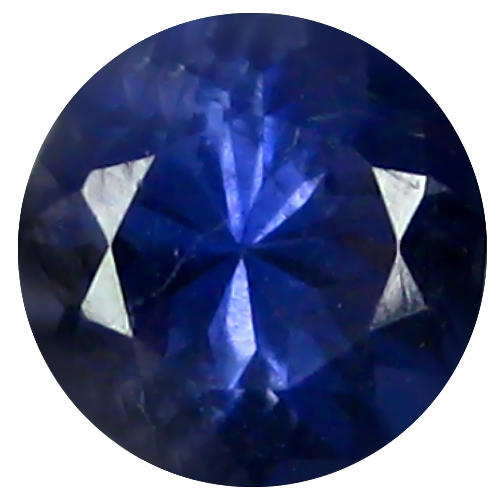 0.68 ct AAA Incomparable Round Shape (6 x 6 mm) Blue Iolite Natural Gemstone