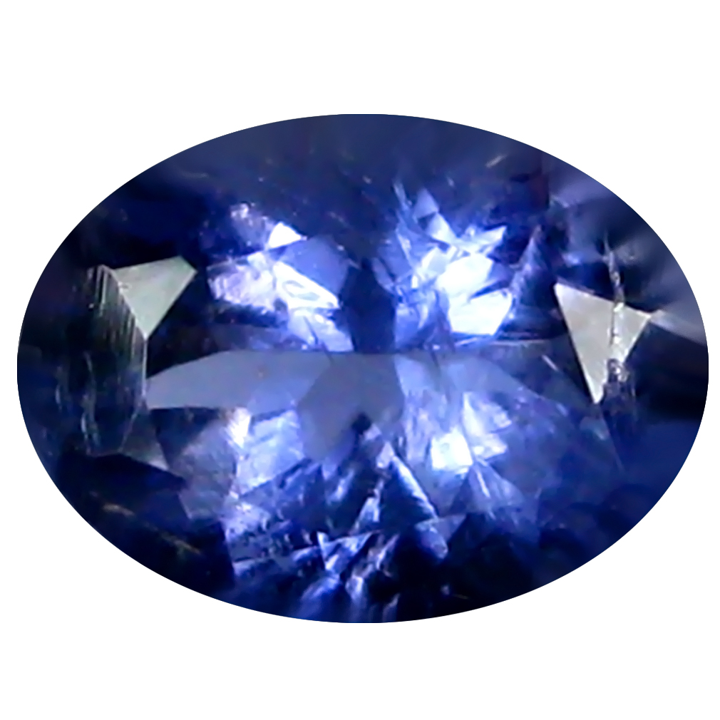 0.66 ct AAA Tremendous Oval Shape (7 x 5 mm) Blue Iolite Natural Gemstone
