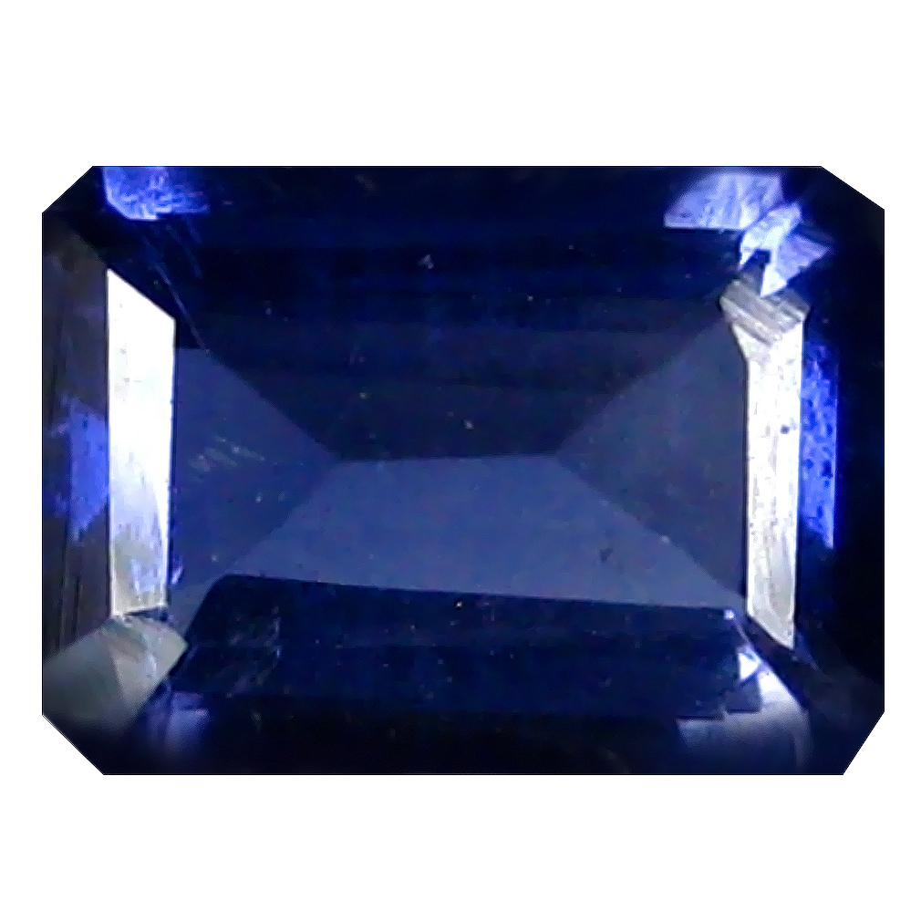 1.24 ct AAA Gorgeous Octagon Shape (8 x 6 mm) Blue Iolite Natural Gemstone