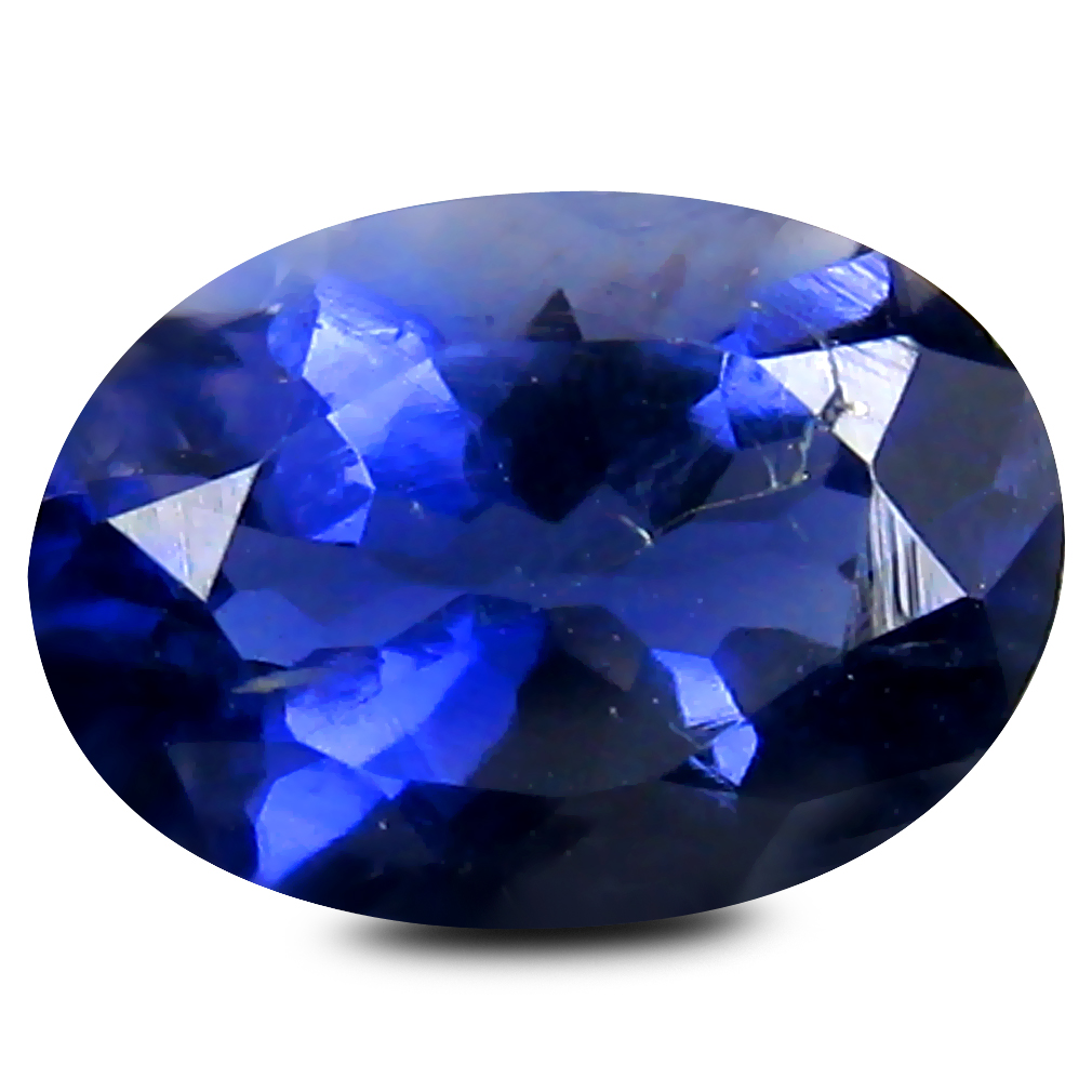 0.95 ct AAA Eye-opening Oval Cut (8 x 6 mm) Blue Iolite Natural Gemstone