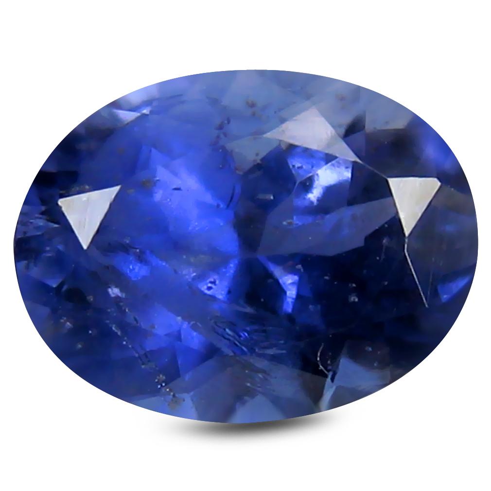 1.40 ct Splendid Oval Cut (9 x 7 mm) India Blue Iolite Natural Gemstone