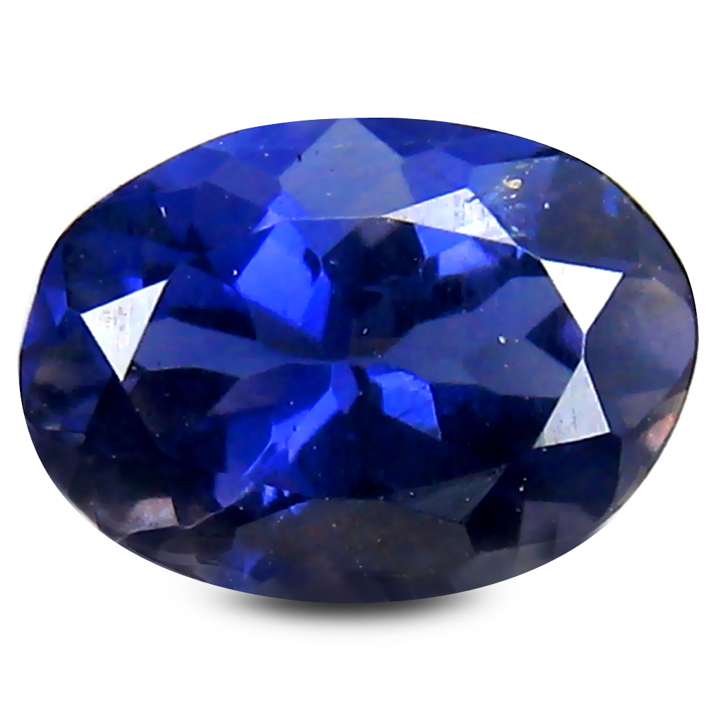0.85 ct Flashing Oval Cut (8 x 6 mm) Blue Color Natural Iolite Natural Gemstone