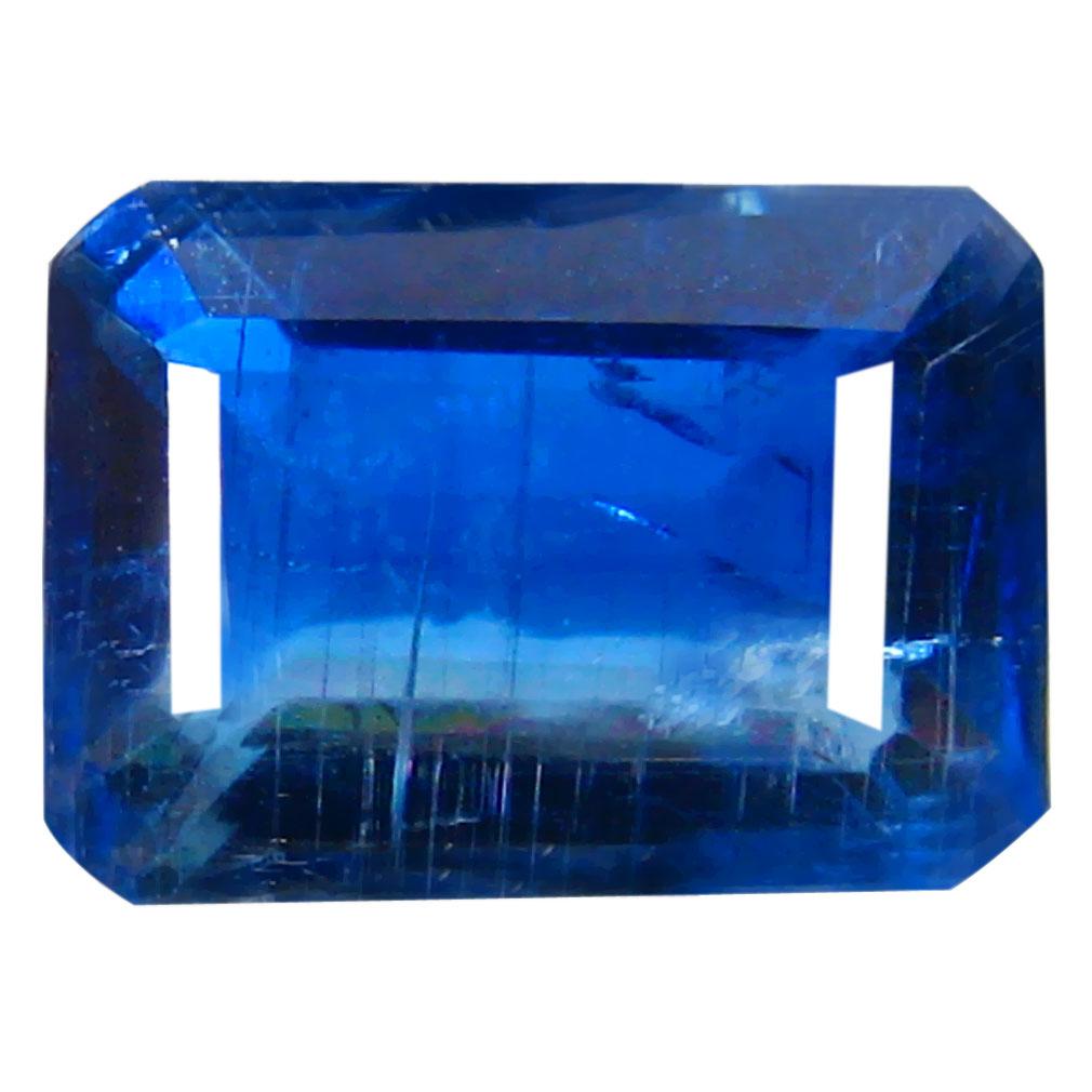 1.75 ct AA+ Tremendous Octagon Shape (8 x 6 mm) Blue Kyanite Natural Gemstone