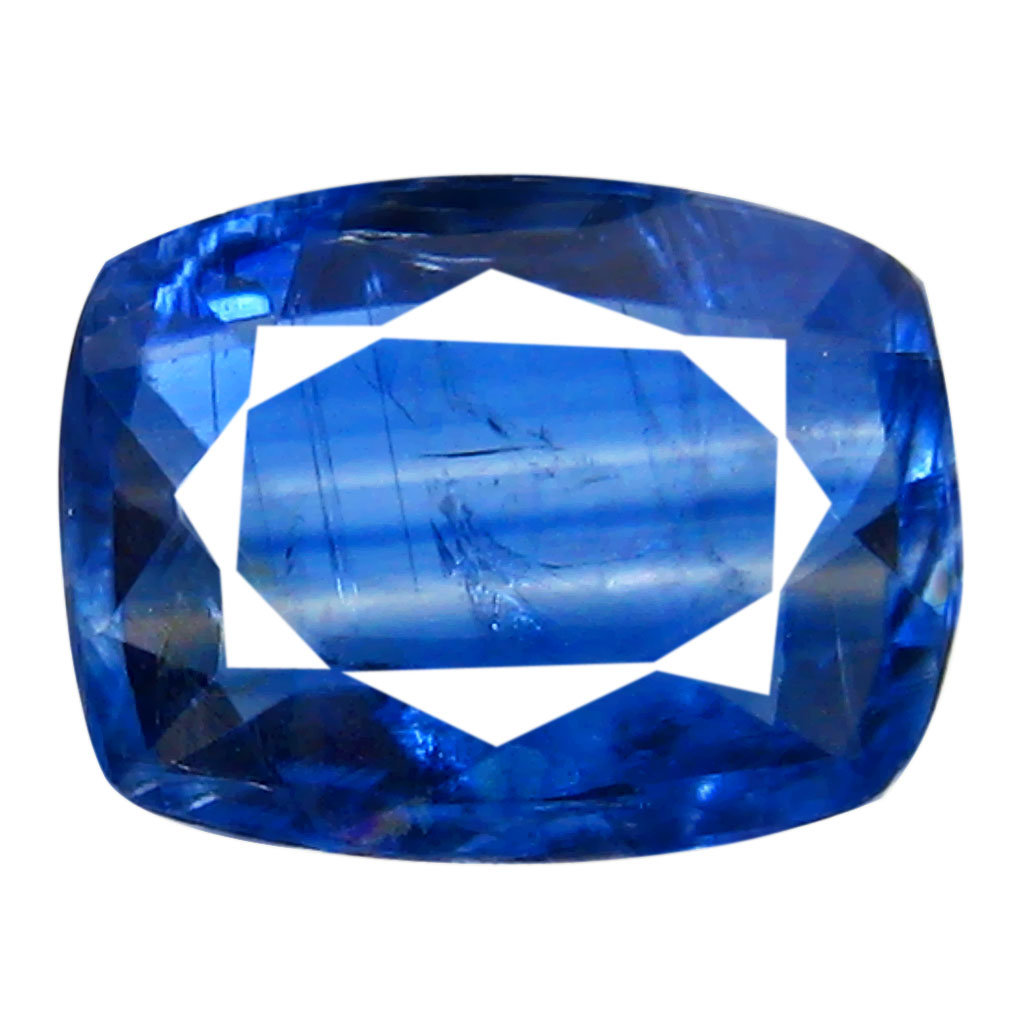1.21 ct AA+ Extraordinary Cushion Shape (8 x 6 mm) Blue Kyanite Natural Gemstone