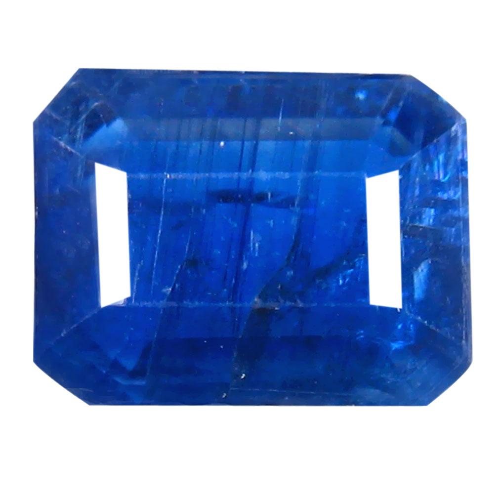 1.88 ct AA+ Superb Octagon Shape (8 x 6 mm) Blue Kyanite Natural Gemstone