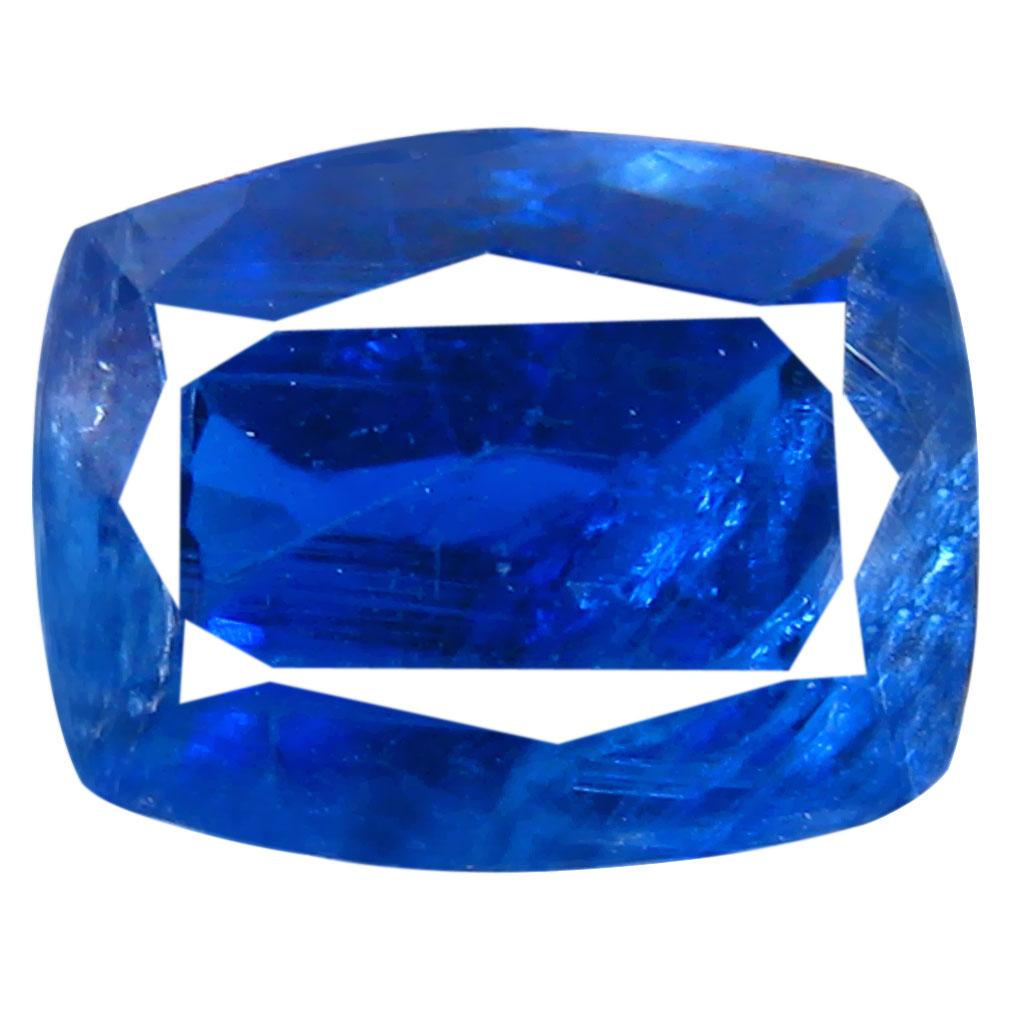 1.76 ct AA+ Beautiful Cushion Shape (8 x 6 mm) Blue Kyanite Natural Gemstone