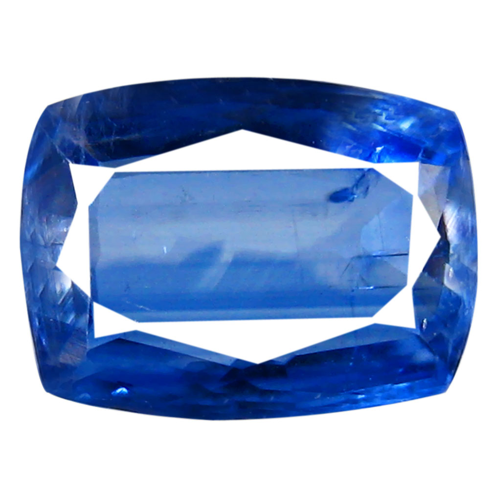 1.32 ct AA+ Superior Cushion Shape (8 x 6 mm) Blue Kyanite Natural Gemstone
