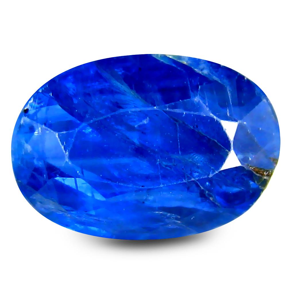 3.15 ct Best Oval Cut (10 x 7 mm) Un-Heated Blue Kyanite Natural Gemstone