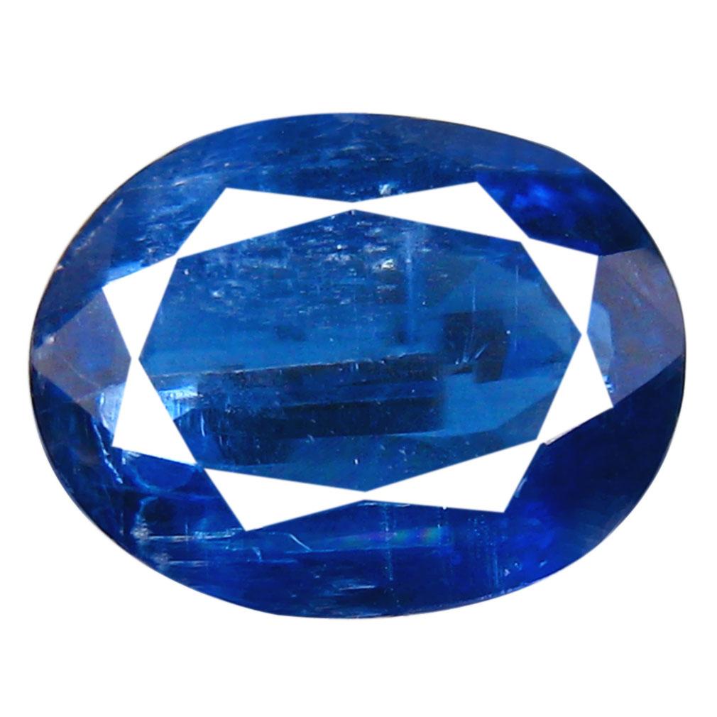 1.99 ct AA+ Resplendent Oval Shape (9 x 7 mm) Blue Kyanite Natural Gemstone