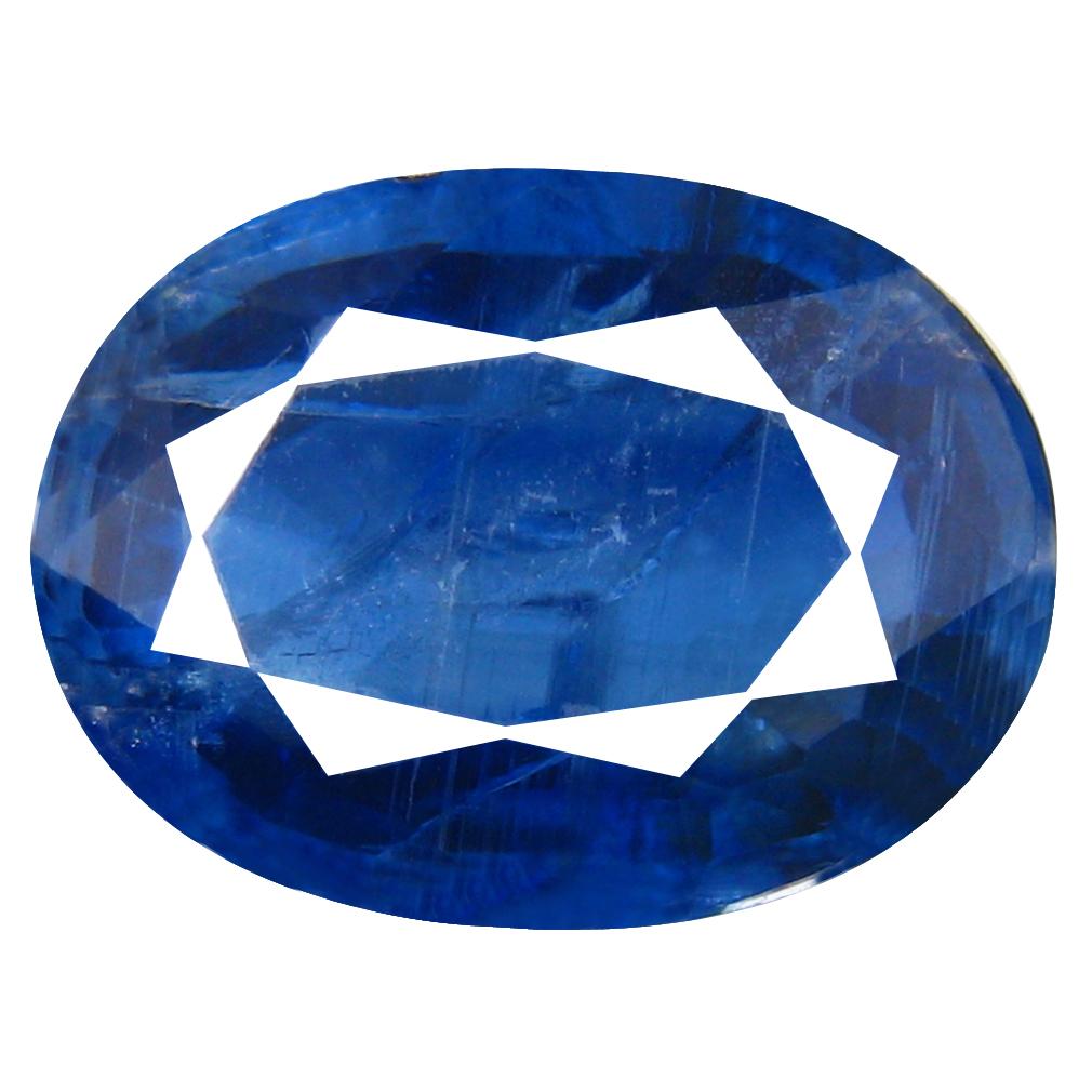 3.26 ct AA+ Superb Oval Shape (11 x 8 mm) Blue Kyanite Natural Gemstone