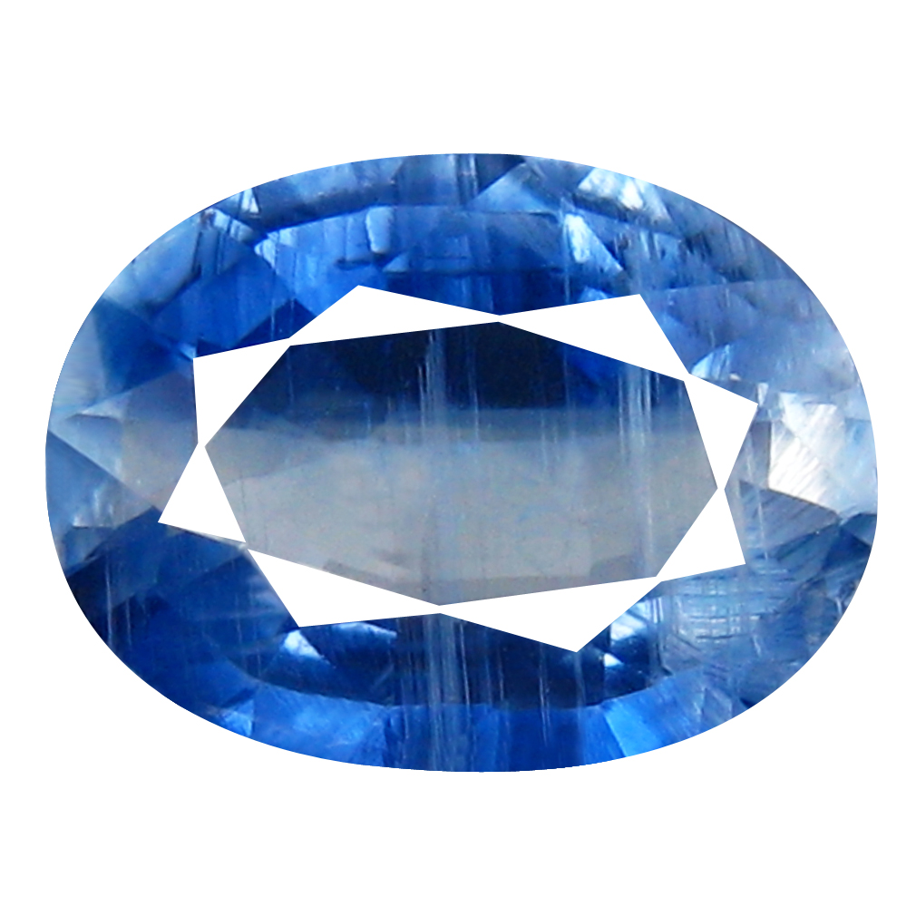 1.84 ct AA+ Sparkling Oval Shape (9 x 7 mm) Blue Kyanite Natural Gemstone