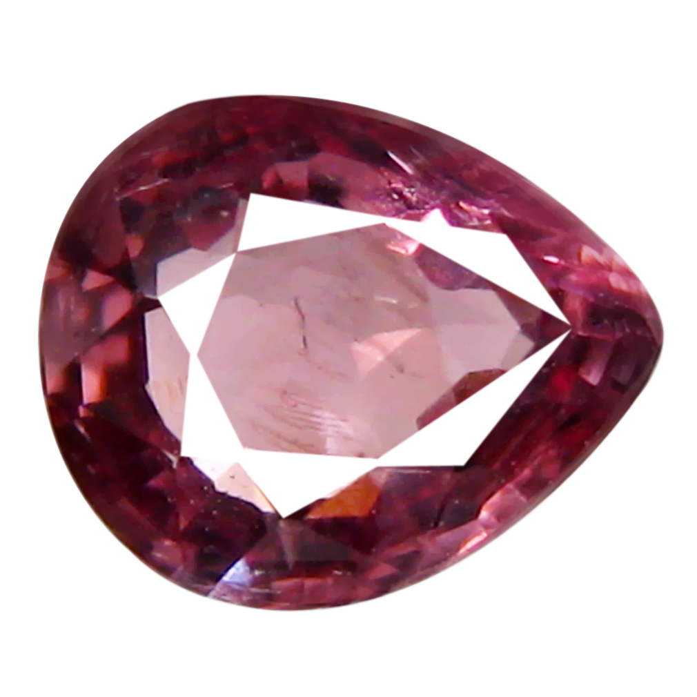 0.56 ct AAA+ Best Pear Shape (5 x 4 mm) Pinkish Orange Malaya Garnet Natural Gemstone