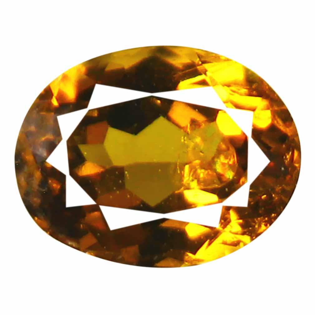 0.82 ct AAA+ Good-looking Oval Shape (6 x 5 mm) Brownish Yellow Mali Garnet Natural Gemstone