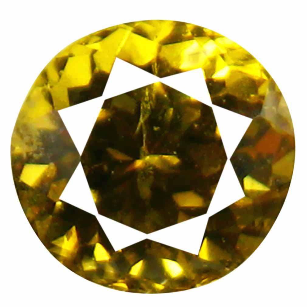 0.78 ct AAA+ Mind-Boggling Round Shape (5 x 5 mm) Brownish Yellow Mali Garnet Natural Gemstone