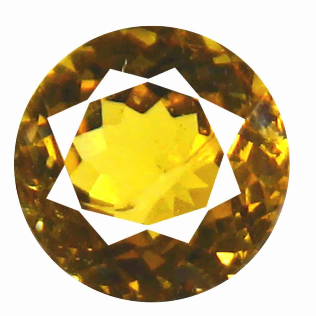 0.61 ct AAA+ Exquisite Round Shape (5 x 5 mm) Brownish Yellow Mali Garnet Natural Gemstone