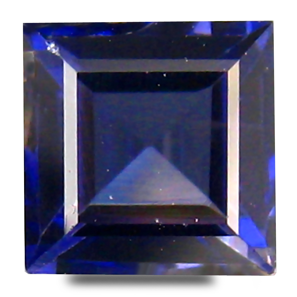 0.72 ct AAA Gorgeous Princess Shape (5 x 5 mm) Bluish Violet Iolite Natural Gemstone