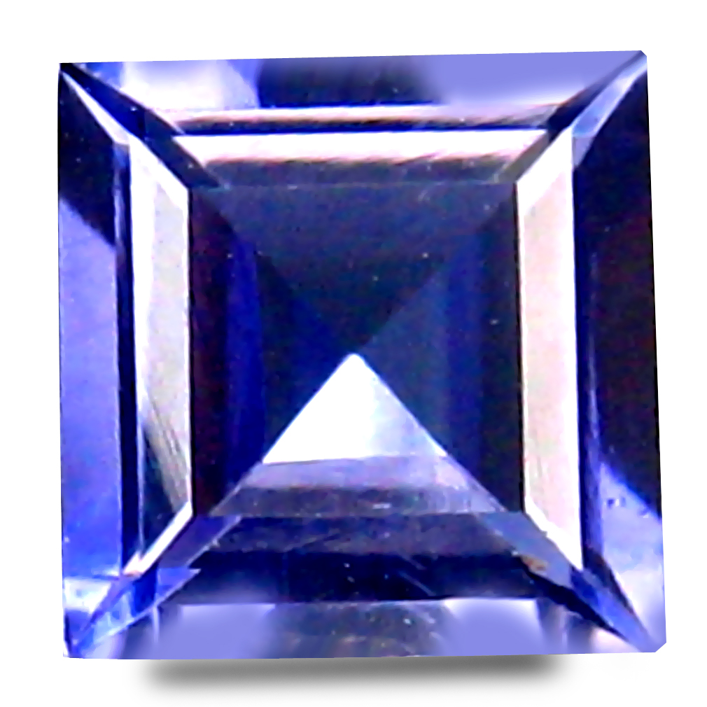 0.67 ct AAA Great looking Princess Shape (5 x 5 mm) Bluish Violet Iolite Natural Gemstone