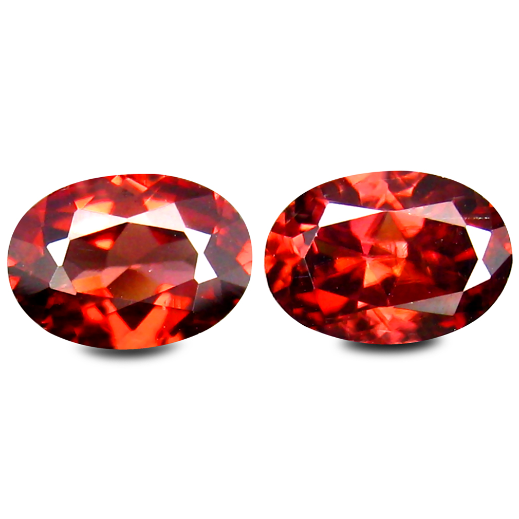 2.19 ct (2 pcs) Gorgeous Oval Cut (7 x 5 mm) Brown Zircon Gemstone