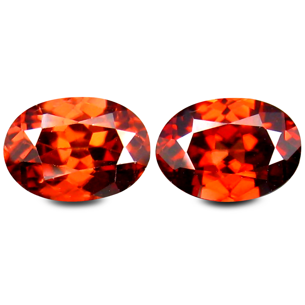 1.96 ct (2 pcs) Impressive Oval Cut (7 x 5 mm) Brown Zircon Gemstone