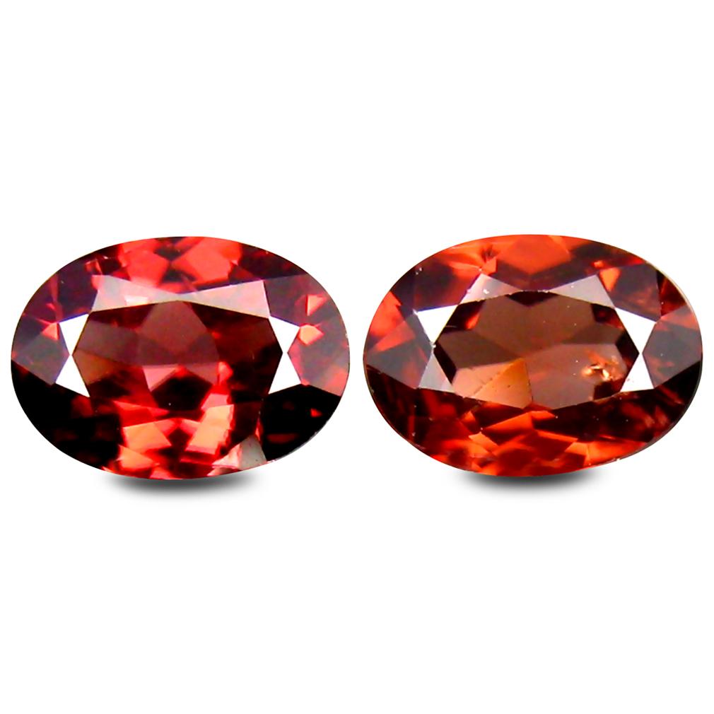 2.48 ct (2 pcs) Fair Oval Cut (7 x 5 mm) Brown Zircon Gemstone