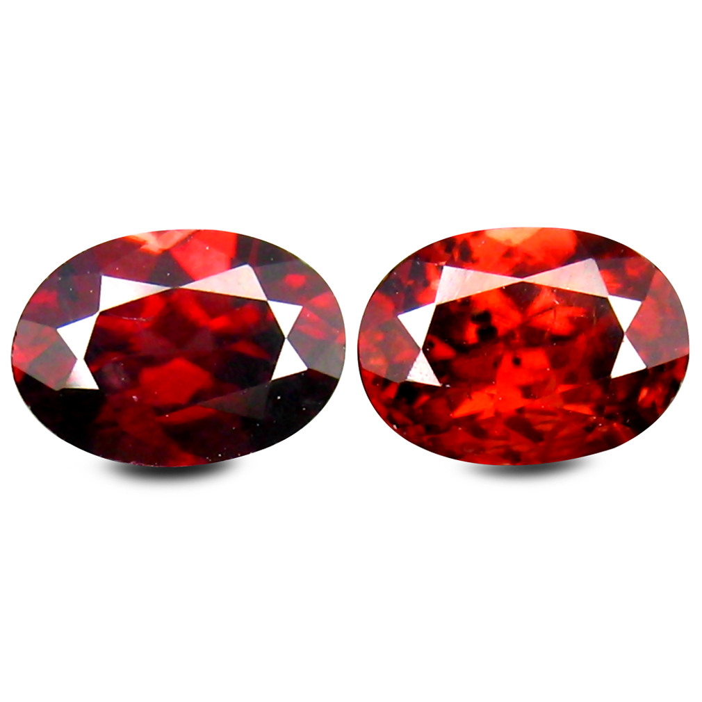 2.57 ct (2 pcs) Fantastic Oval Cut (7 x 5 mm) Brown Zircon Gemstone