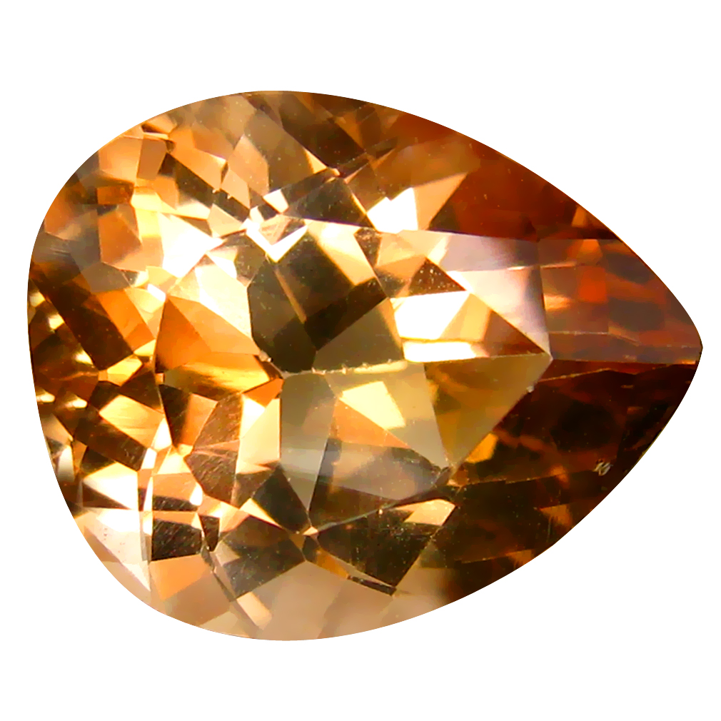 12.37 ct AAA Tremendous Pear Shape (16 x 13 mm) Champagne Champion Topaz Natural Gemstone