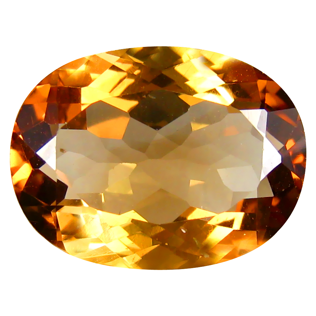 11.16 ct AAA Super-Excellent Oval Shape (16 x 12 mm) Champagne Champion Topaz Natural Gemstone