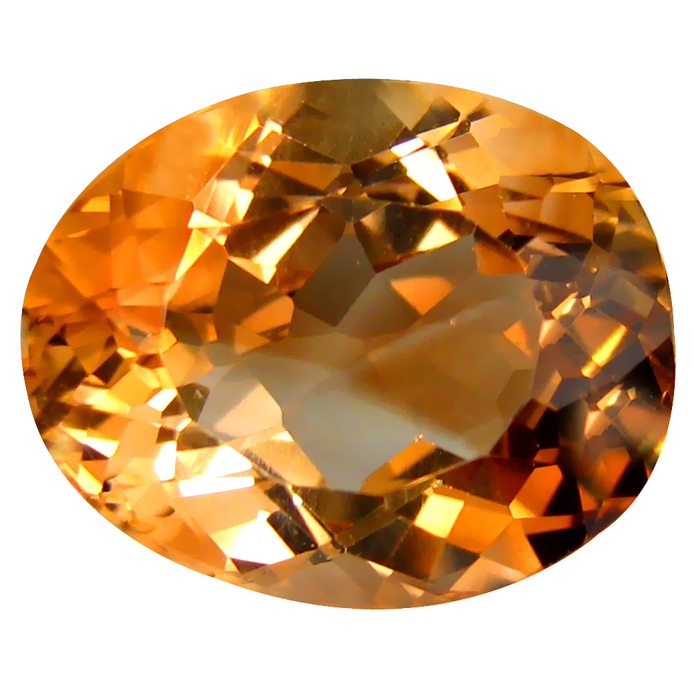 12.27 ct AAA Incomparable Oval Shape (15 x 12 mm) Champagne Champion Topaz Natural Gemstone