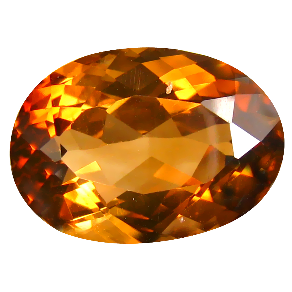 12.55 ct AAA Fabulous Oval Shape (16 x 11 mm) Champagne Champion Topaz Natural Gemstone