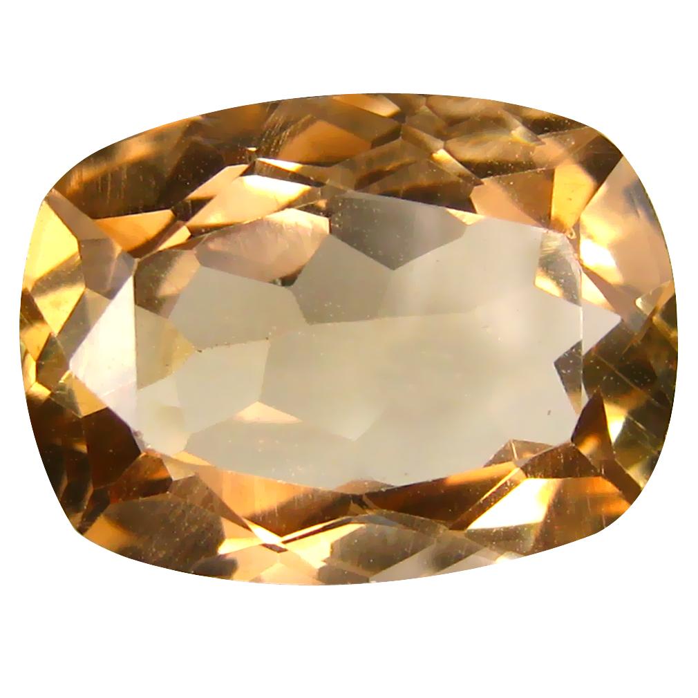 12.57 ct AAA Romantic Cushion Shape (16 x 12 mm) Champagne Champion Topaz Natural Gemstone