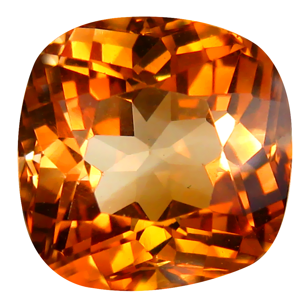 11.48 ct AAA Excellent Cushion Shape (12 x 12 mm) Champagne Champion Topaz Natural Gemstone